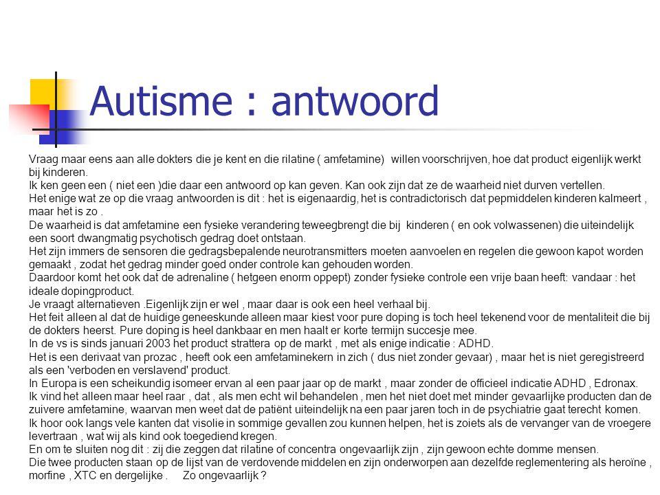 Autisme : antwoord