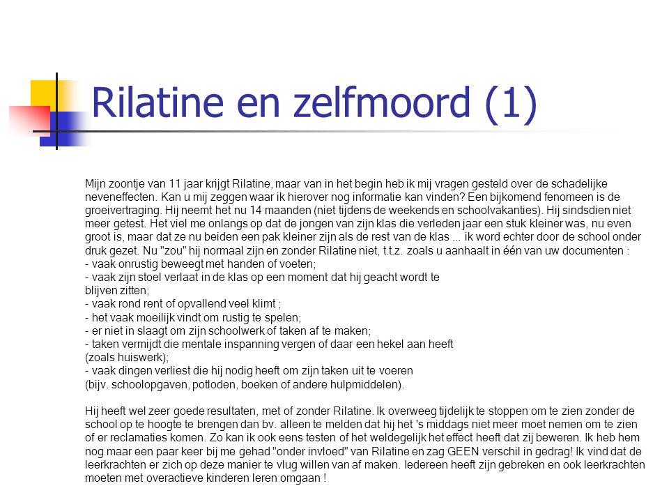 Rilatine en zelfmoord (1)