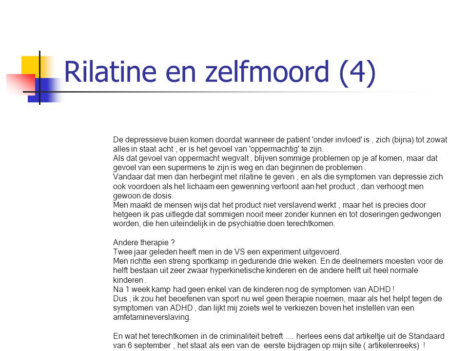 Rilatine en zelfmoord (4)
