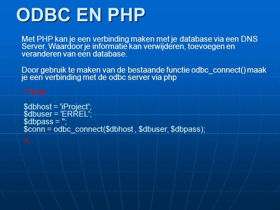 ODBC EN PHP