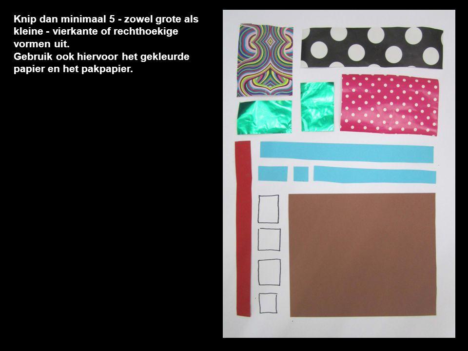 Gebruik ook hiervoor het gekleurde papier en het pakpapier.
