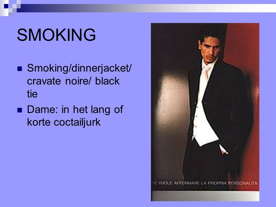 SMOKING Smoking/dinnerjacket/cravate noire/ black tie