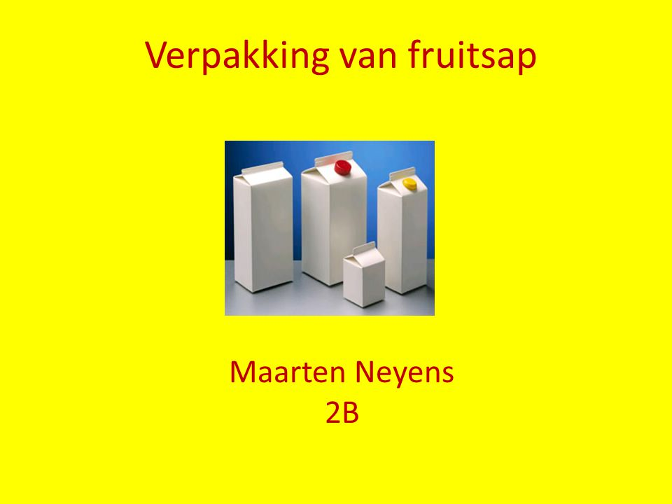 Verpakking van fruitsap