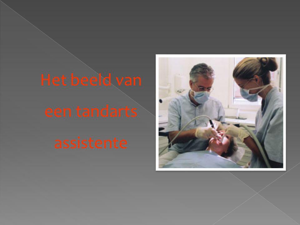 Het beeld van een tandarts assistente