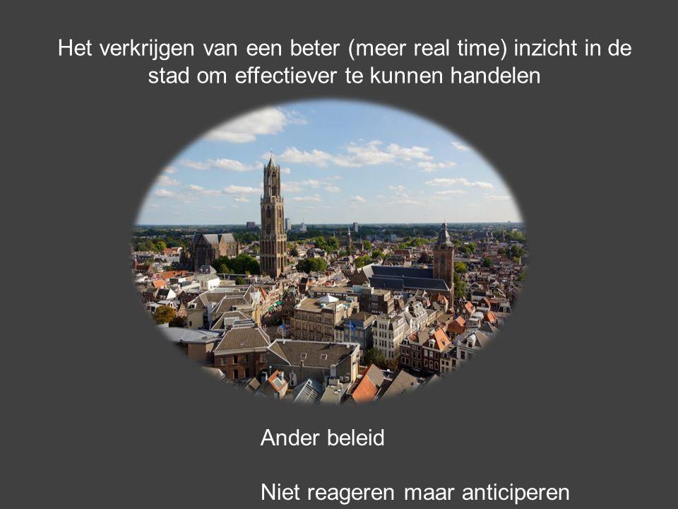 Het verkrijgen van een beter (meer real time) inzicht in de stad om effectiever te kunnen handelen