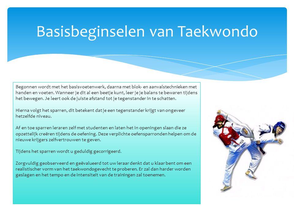 Basisbeginselen van Taekwondo
