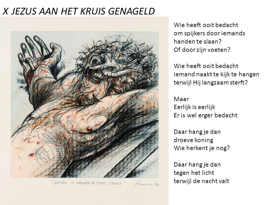 X JEZUS AAN HET KRUIS GENAGELD