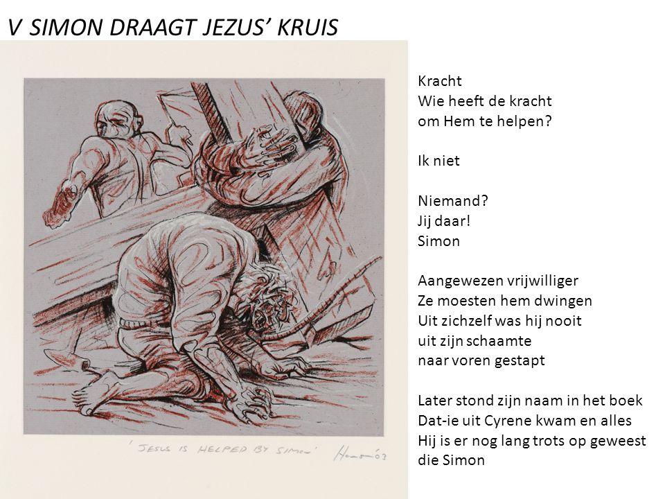 V SIMON DRAAGT JEZUS' KRUIS