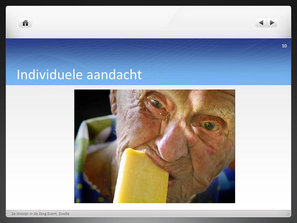 Individuele aandacht 2e Welzijn in de Zorg Event, Zwolle