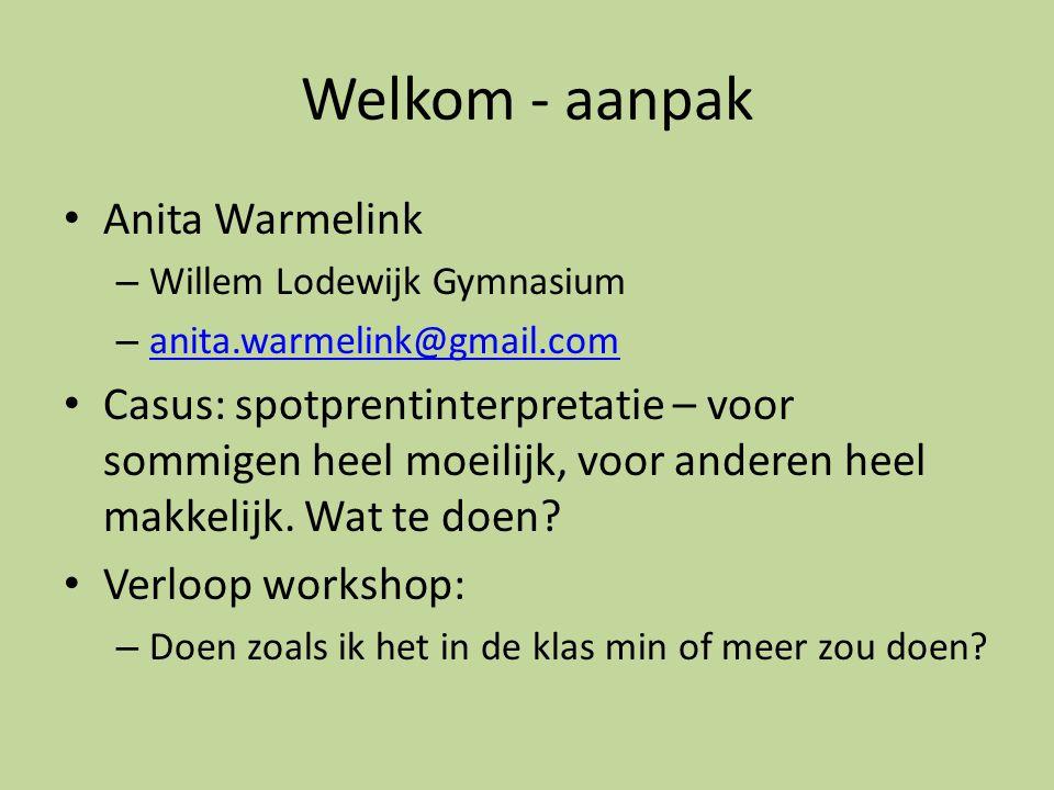 Welkom - aanpak Anita Warmelink