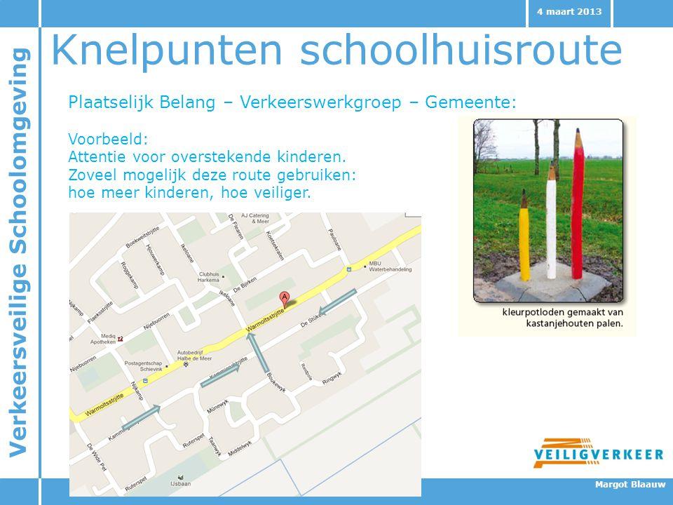Knelpunten schoolhuisroute