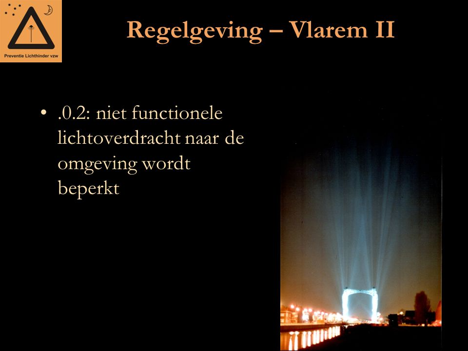 Regelgeving – Vlarem II