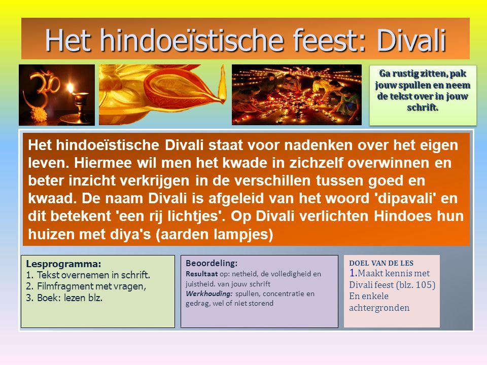 Het hindoeïstische feest: Divali