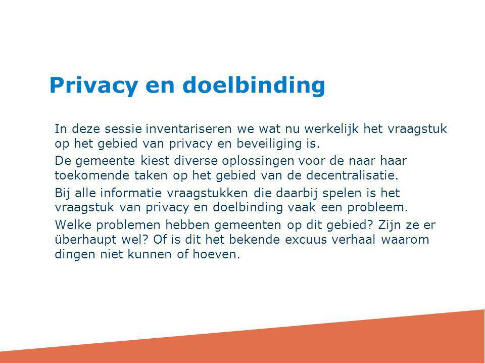 Privacy en doelbinding