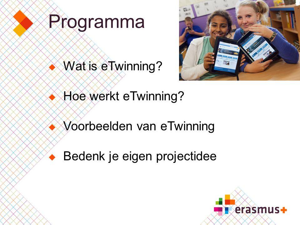 Programma Wat is eTwinning Hoe werkt eTwinning