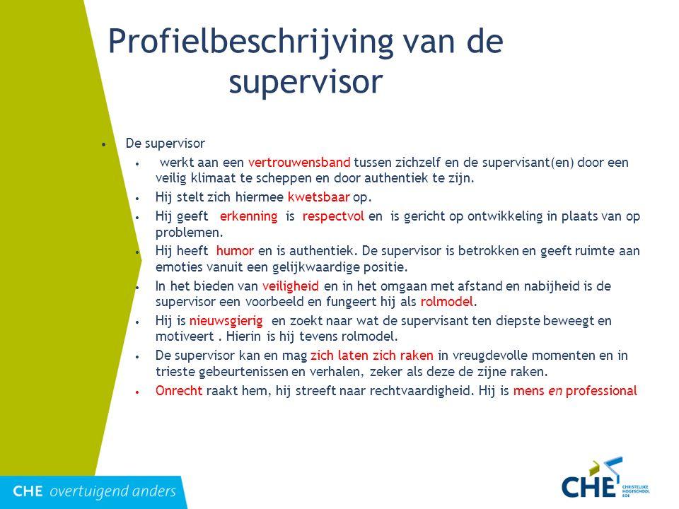 Profielbeschrijving van de supervisor