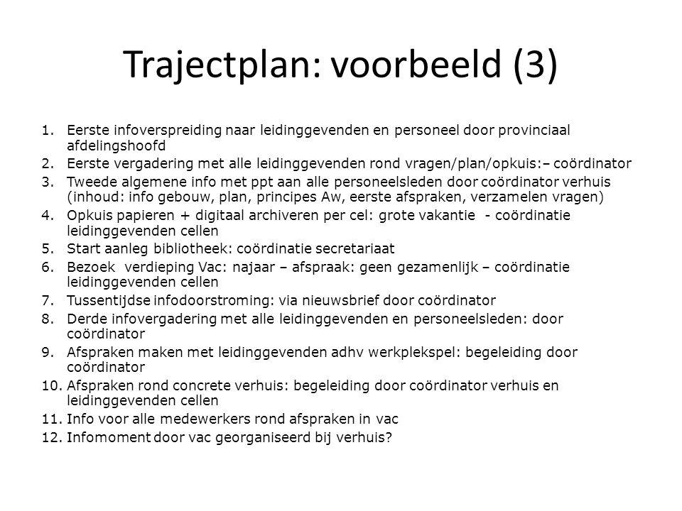 Trajectplan: voorbeeld (3)