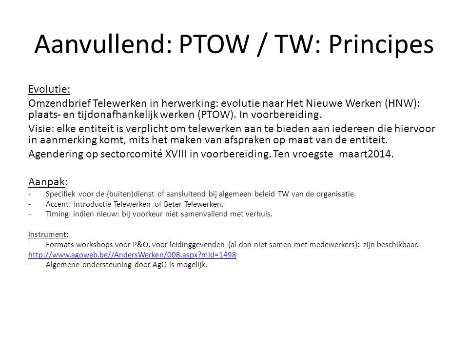 Aanvullend: PTOW / TW: Principes