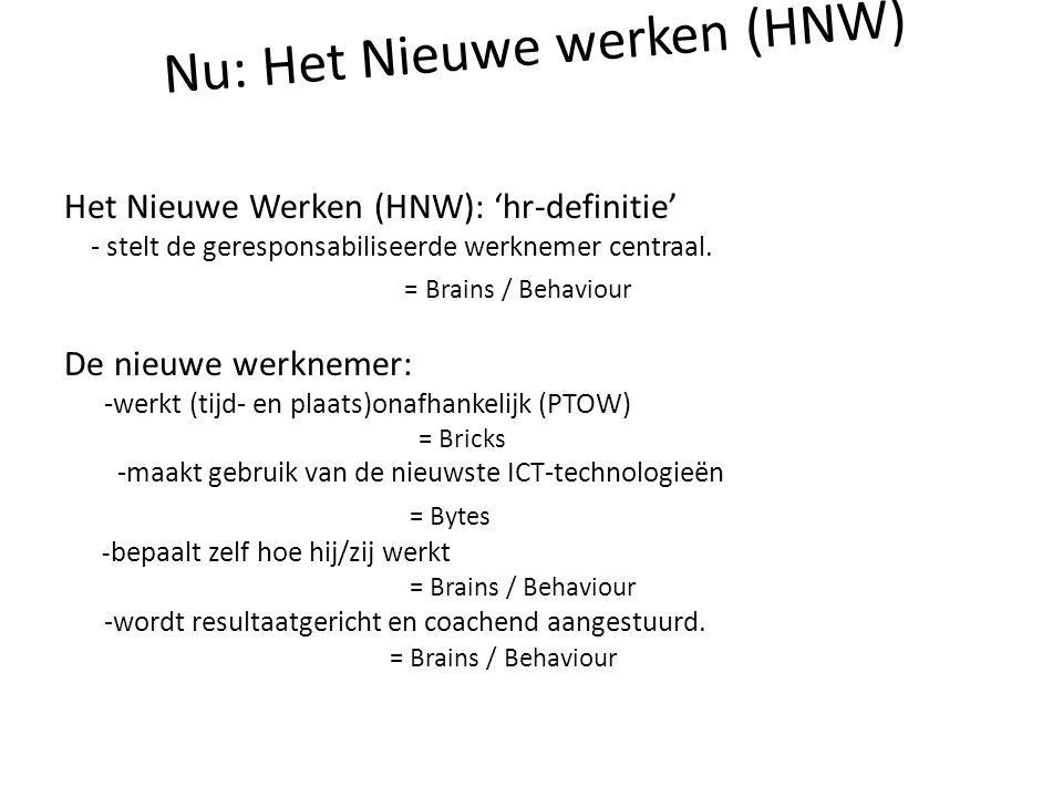 Nu: Het Nieuwe werken (HNW)