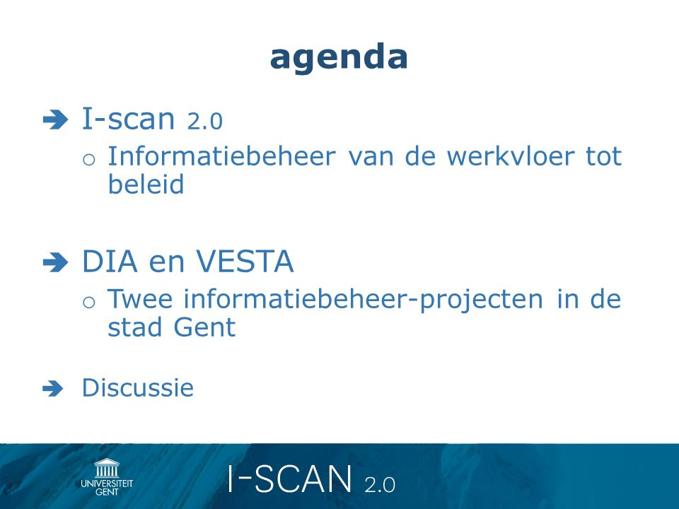 agenda I-scan 2.0 DIA en VESTA
