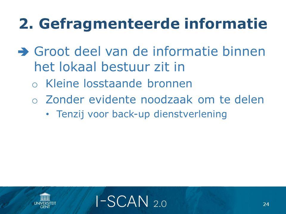 2. Gefragmenteerde informatie