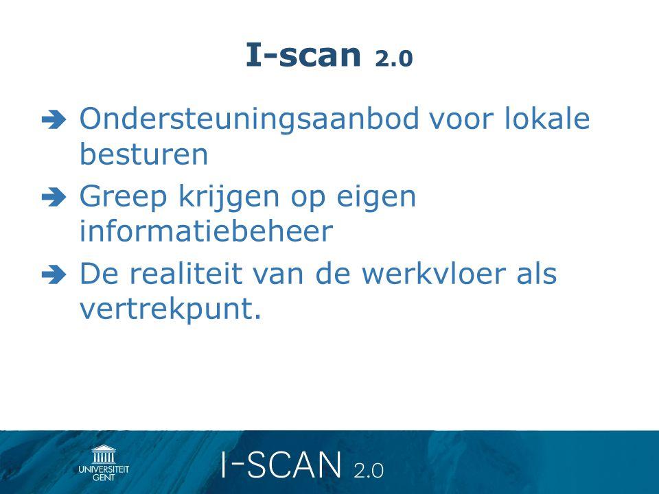 I-scan 2.0 Ondersteuningsaanbod voor lokale besturen