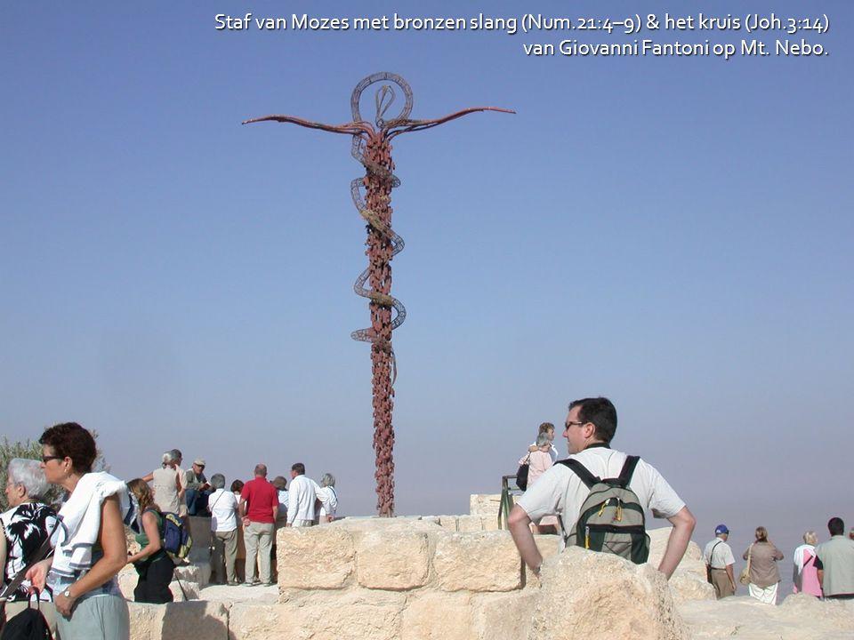 Staf van Mozes met bronzen slang (Num.21:4–9) & het kruis (Joh.3:14)