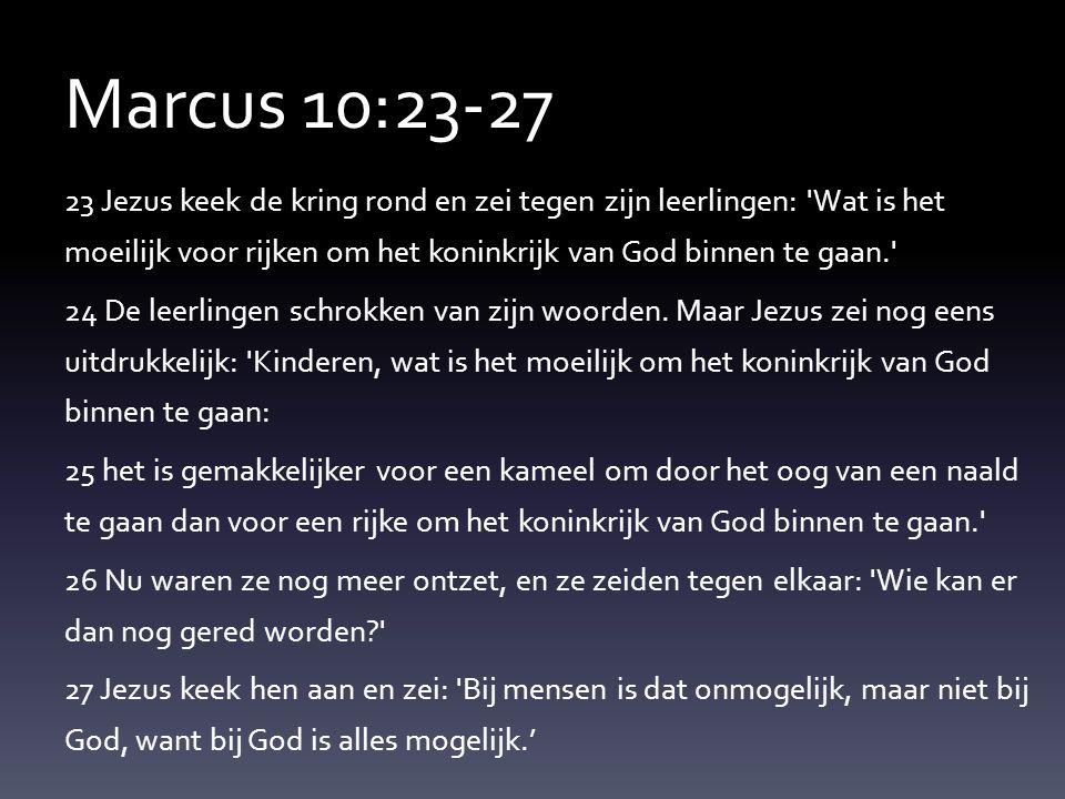 Marcus 10:23-27