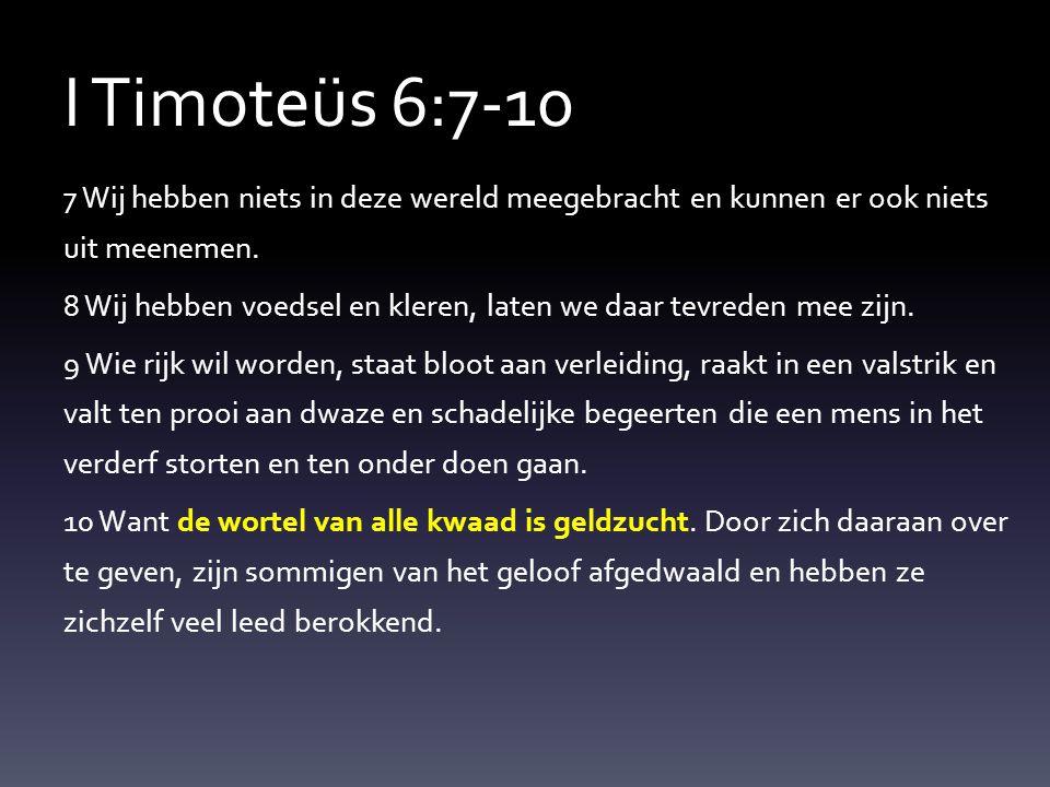 I Timoteüs 6:7-10