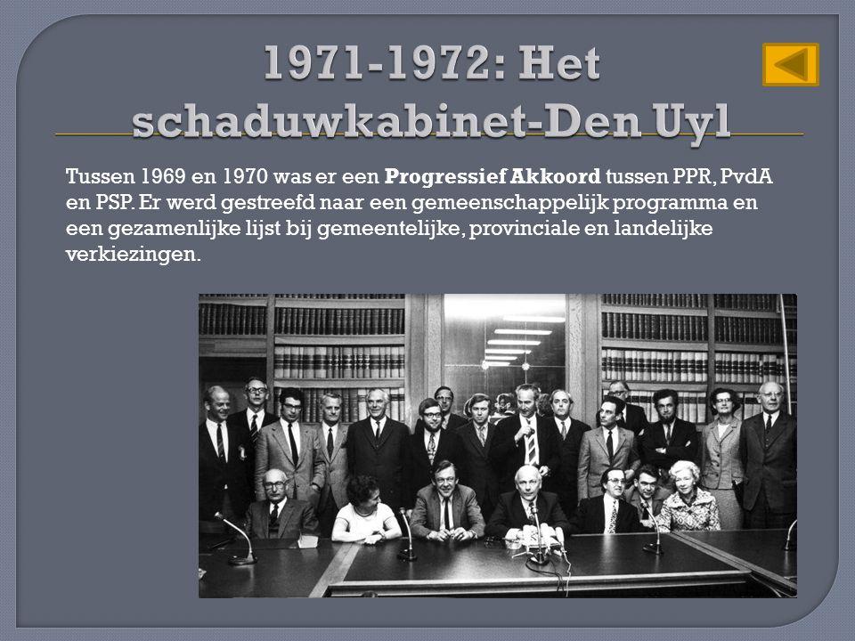 1971-1972: Het schaduwkabinet-Den Uyl