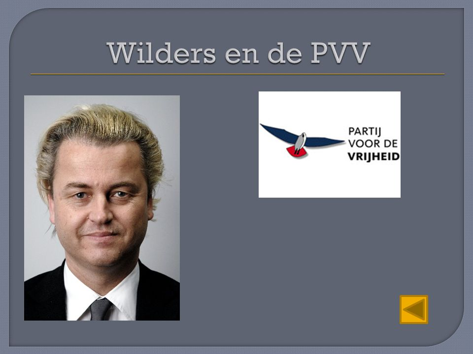 Wilders en de PVV