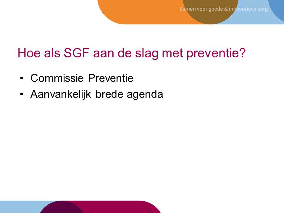 Hoe als SGF aan de slag met preventie