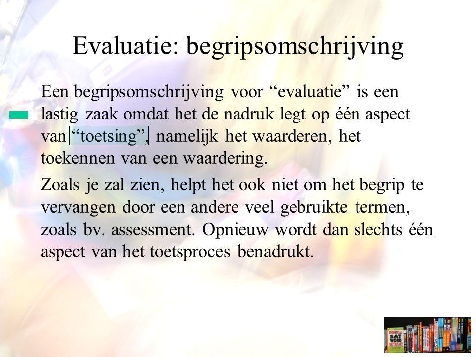 Evaluatie: begripsomschrijving