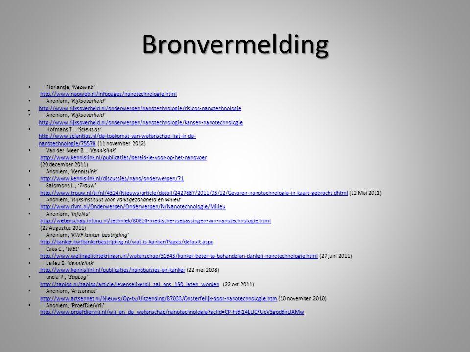 Bronvermelding Floriantje, 'Neoweb'