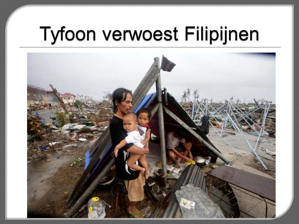 Tyfoon verwoest Filipijnen