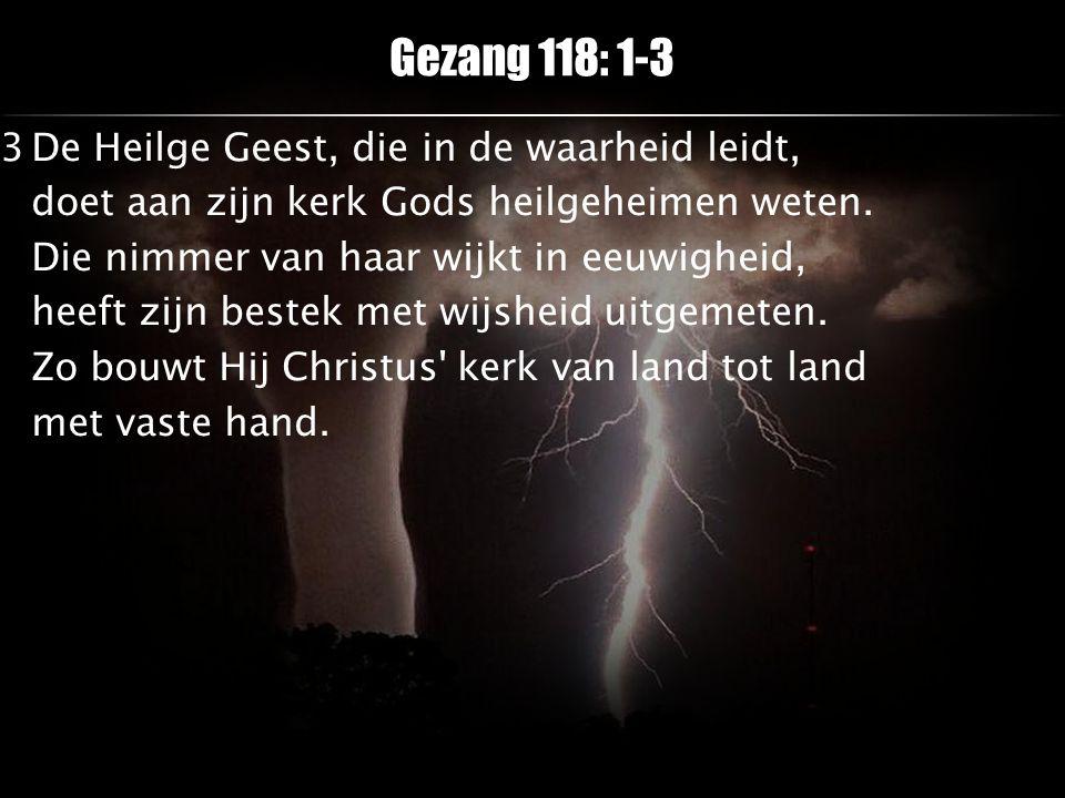 Gezang 118: 1-3