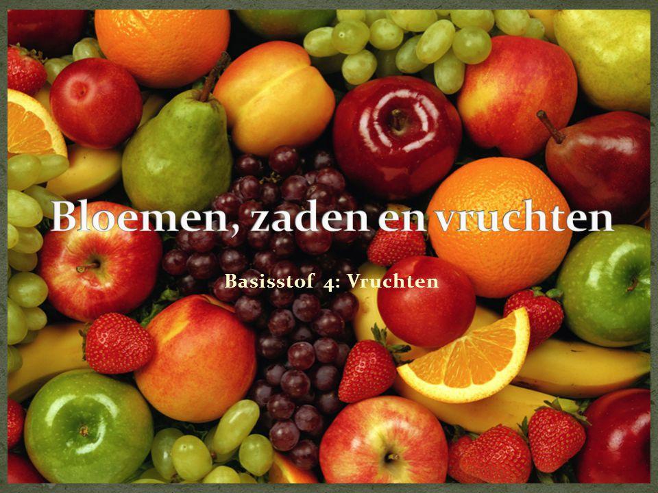 Bloemen, zaden en vruchten