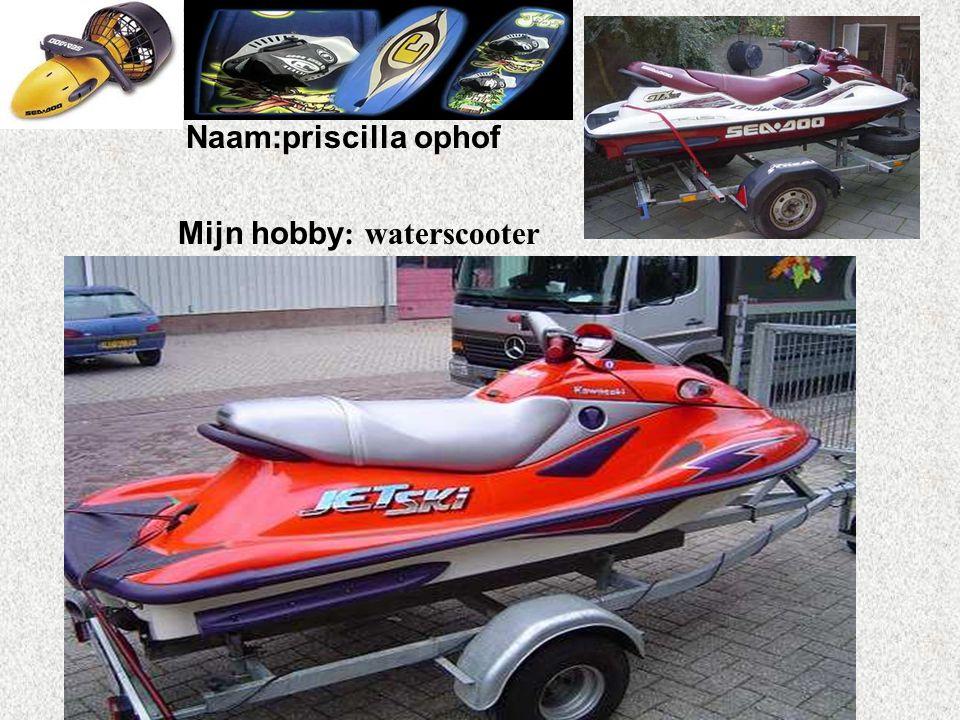 Mijn hobby: waterscooter