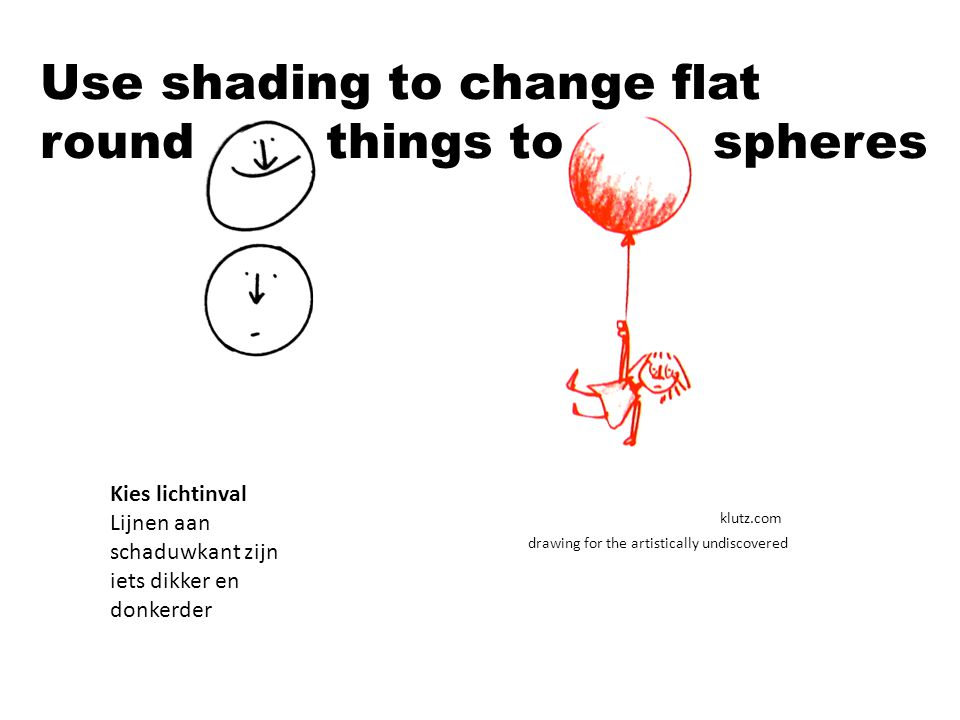Use shading to change flat round things to spheres