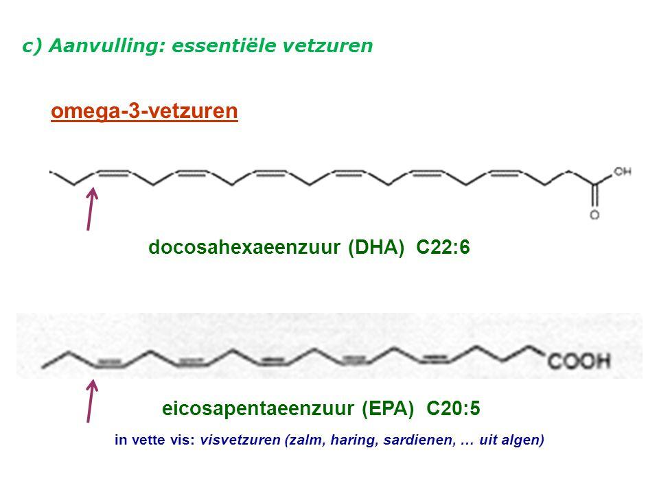 omega-3-vetzuren docosahexaeenzuur (DHA) C22:6