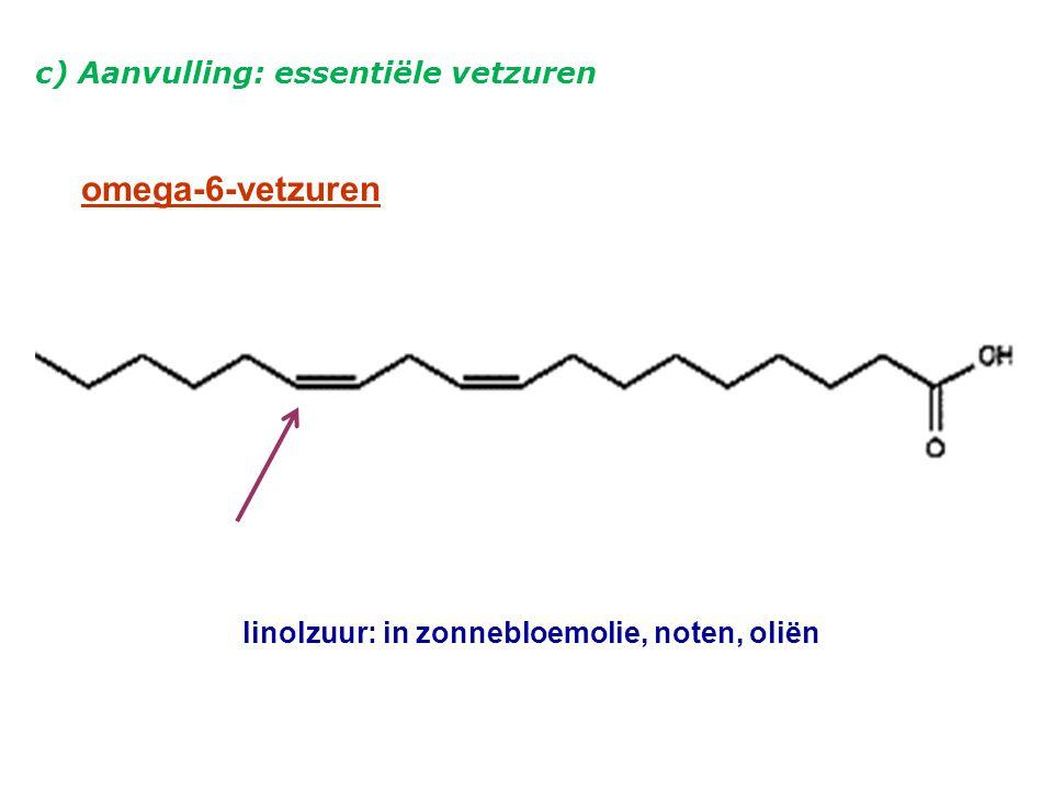linolzuur: in zonnebloemolie, noten, oliën