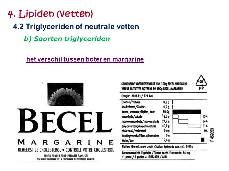 4. Lipiden (vetten) 4.2 Triglyceriden of neutrale vetten