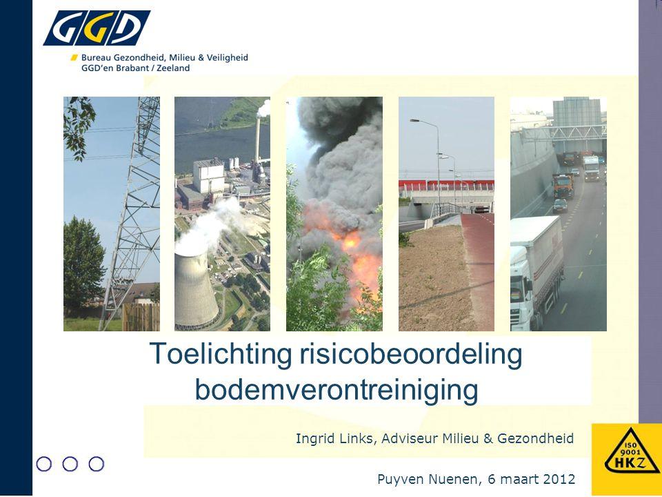 Toelichting risicobeoordeling bodemverontreiniging