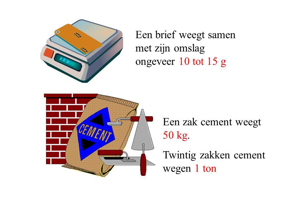 Een brief weegt samen met zijn omslag ongeveer 10 tot 15 g