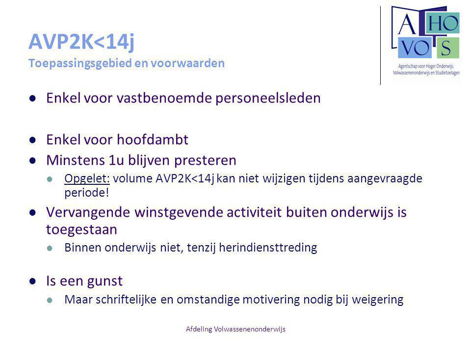 AVP2K<14j Toepassingsgebied en voorwaarden