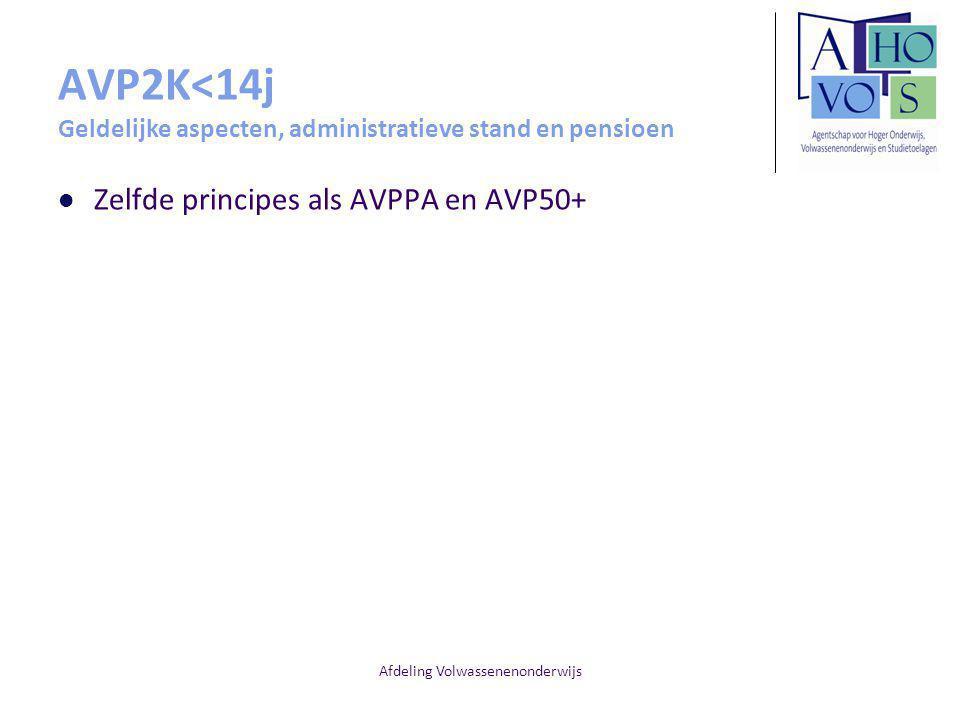 AVP2K<14j Geldelijke aspecten, administratieve stand en pensioen