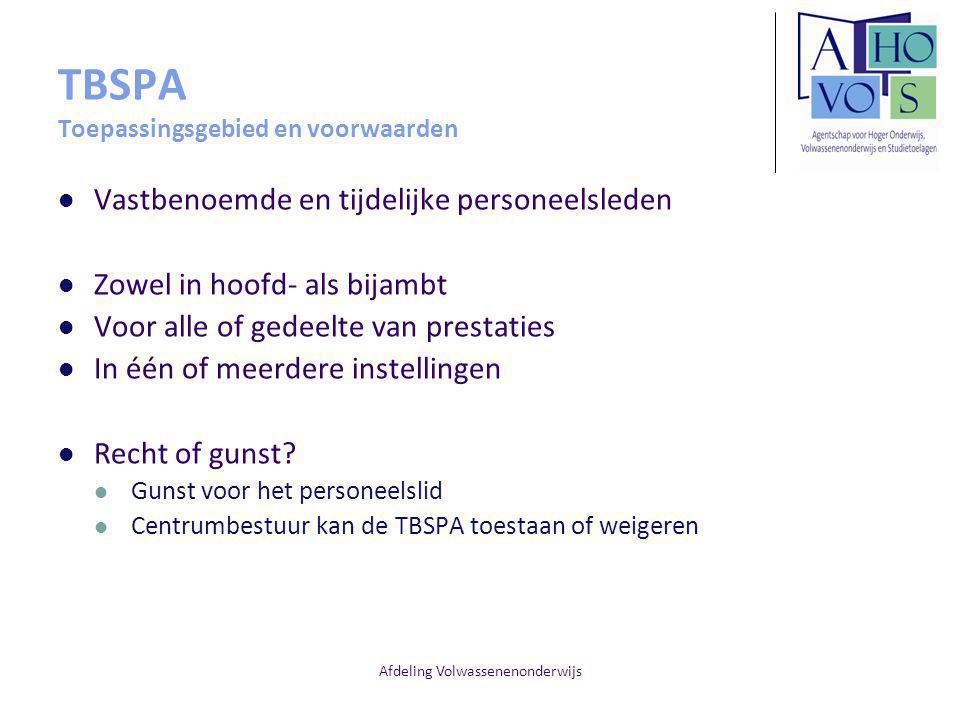 TBSPA Toepassingsgebied en voorwaarden