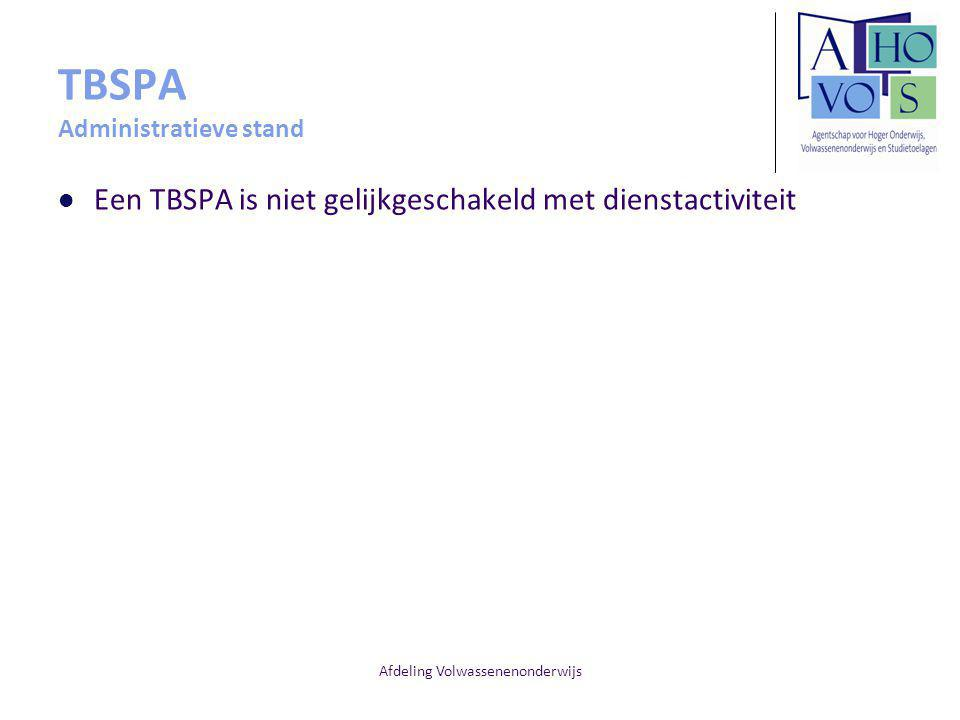 TBSPA Administratieve stand