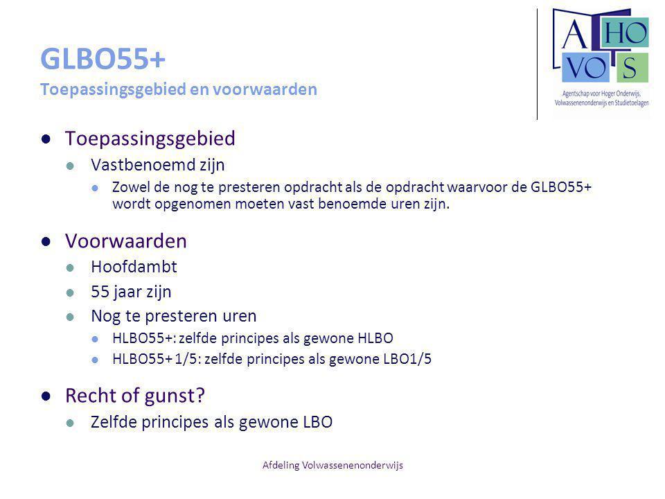GLBO55+ Toepassingsgebied en voorwaarden