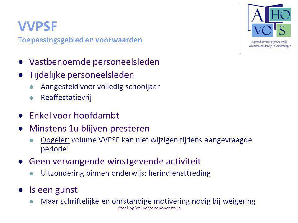 VVPSF Toepassingsgebied en voorwaarden